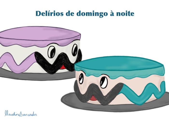 um bolo falando com outro bolo