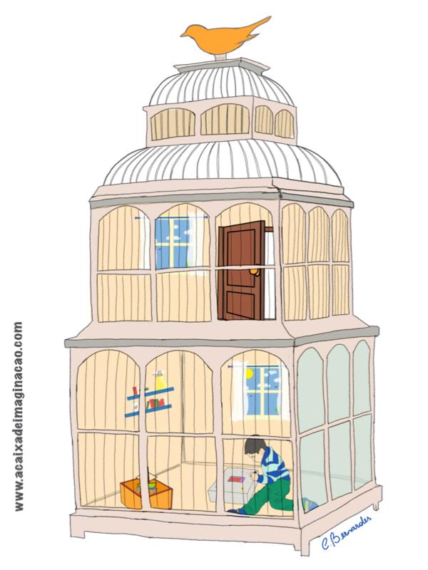 pássaro na A Caixa de Imaginação
