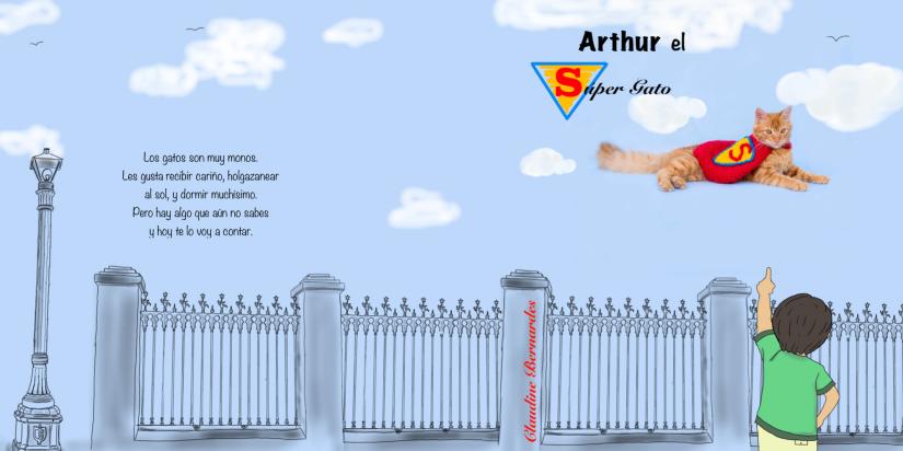 cuento Arthur el Super Gato Claudine Bernardes