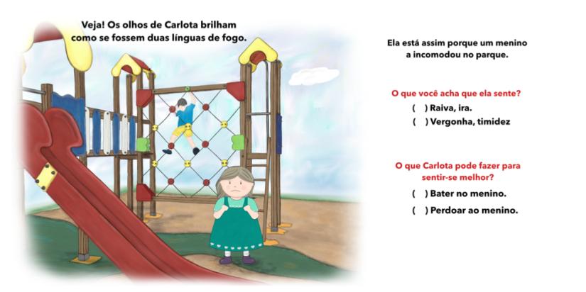 2 Carlota não quer falar conto infantil sentimentos