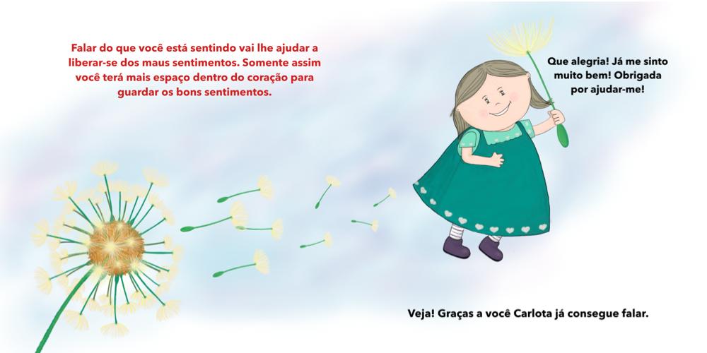 4 Carlota não quer falar conto infantil sentimentos