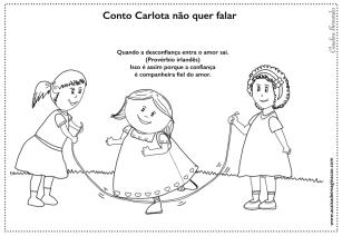 Carlota desenho para colorir sentimento confiança