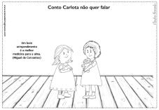 Carlota desenho para colorir sentimentos arrependimento perdão