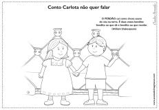 Carlota desenho para pintar perdão