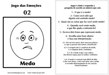 Carlota jogo das emoções 2 medo