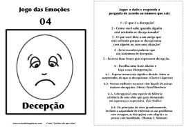 Carlota jogo das emoções 4 decepção
