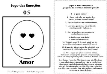 Carlota jogo das emoções 5 amor