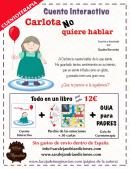 Publicidad Carlota no quiere hablar cuentoterapia