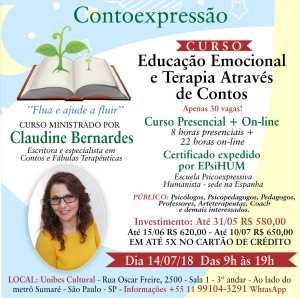 curso educação emocional e terapia através de contos, são Paulo, Curitiba, Taubaté, Claudine Bernardes