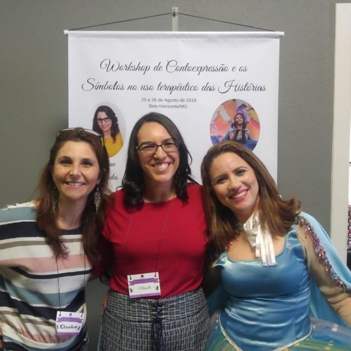 Curso de Contoexpressão Belo Horizonte Claudine Flavia e Marcelle